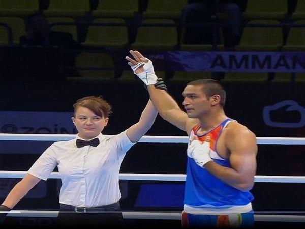Indian boxer Ashish Kumar (Photo/SAIMedia Twitter)