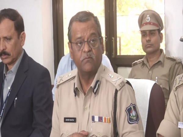 Ahmedabad Commissioner of Police Ashish Bhatia speaking to reporters on Sunday. Photo/ANI