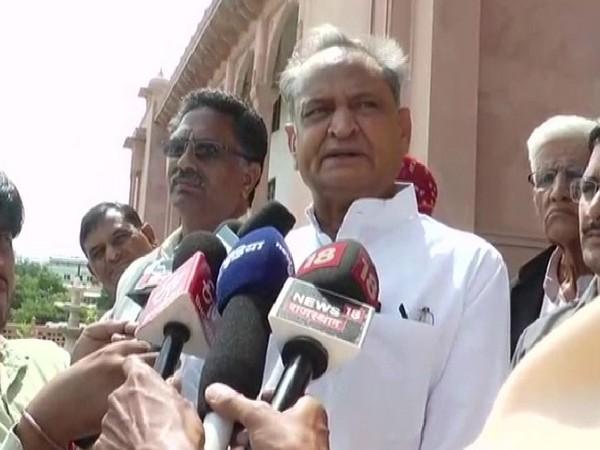 Chief Minister Ashok Gehlot speaking to media on Saturday. Photo/ANI
