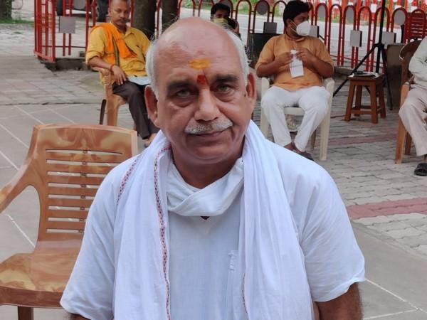 Ashok Tiwari, Sant sampark pramukh and central office secretary Vishva Hindu Parishad (VHP). [Photo/ANI]