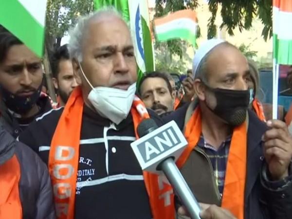 Dogra Front president Ashok Gupta talking to ANI on Friday. (Photo/ANI)