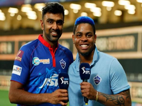 Ravichandran Ashwin and Shimron Hetmyer (Photo/ iplt20.com)