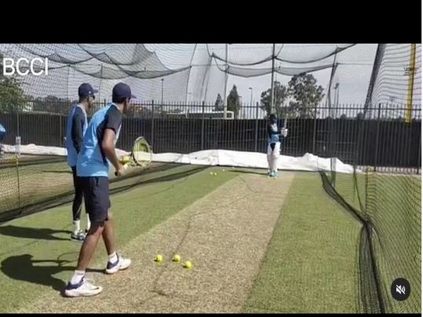 Ashwin gives KL Rahul throwdowns using tennis racquet (Photo/ Team India Instagram)