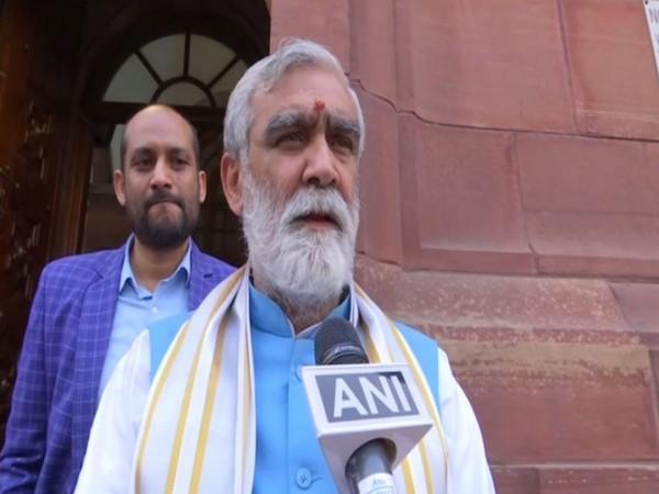 BJP MP Ashwini Kumar Choubey speaking to ANI in New Delhi on Thursday. Photo/ANI
