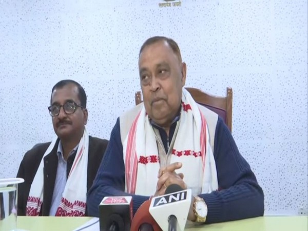 State minister Ranjit Kumar Dutta speaking to reporters in Guwahati on Tuesday. Photo/ANI