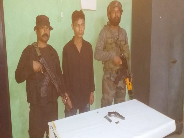 A NDFB cadre arrested with pistol