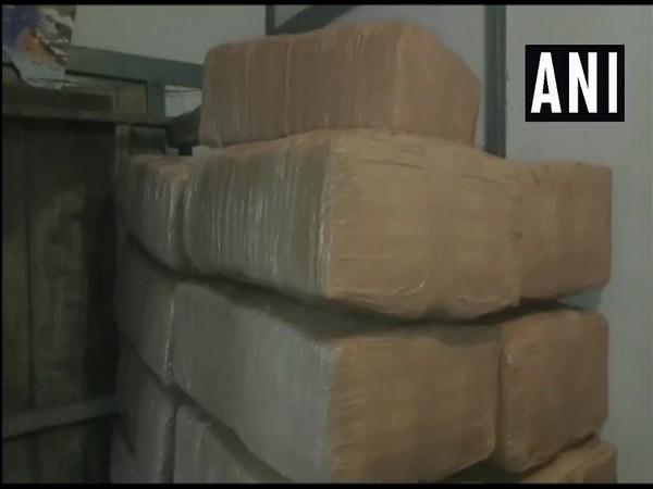 Cannabis seized by Assam Police on Thursday. Photo/ANI