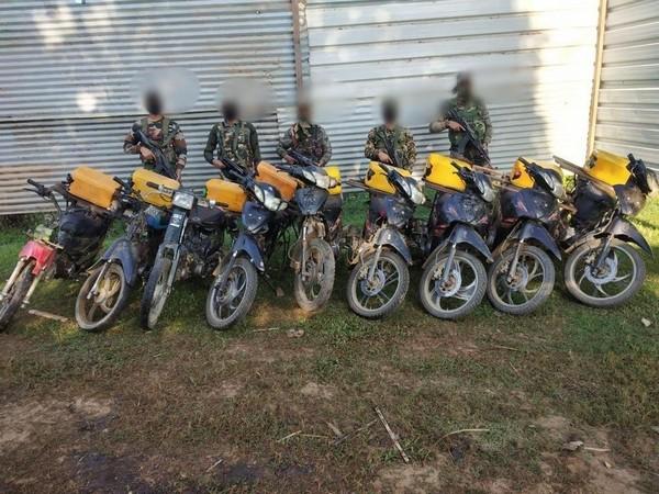 Assam Rifles intercept Myanmar origin two-wheelers plying illegally in Manipur