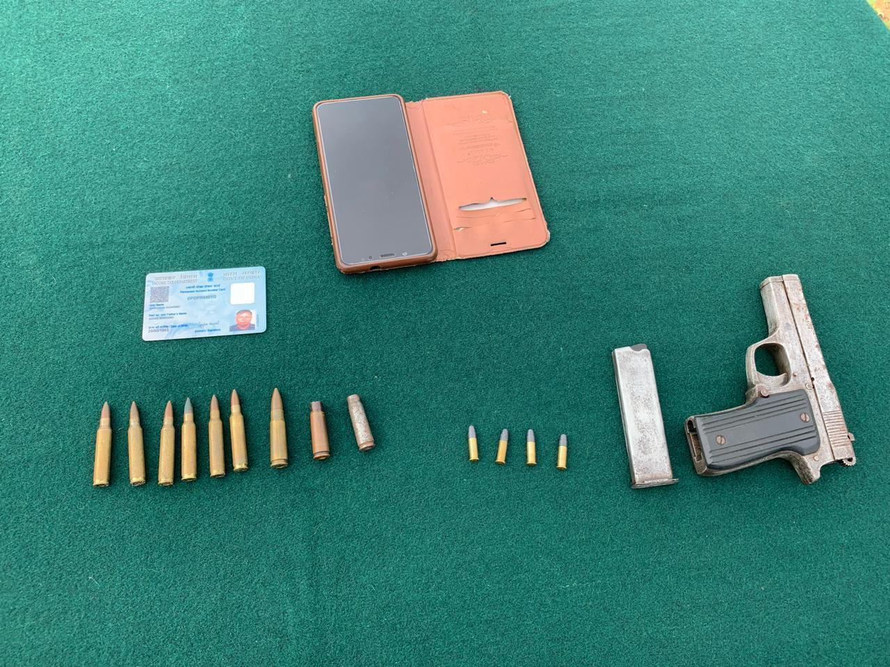 A ZUF cadre was apprehended by troops of Assam Rifle (Photo tweeted by Eastern Command)