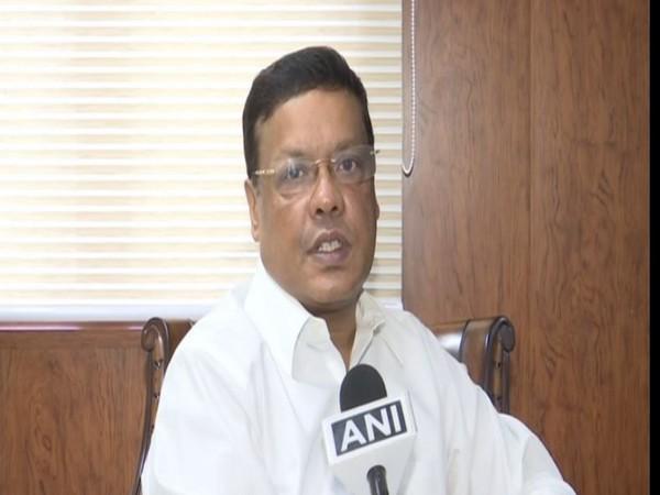 Assam Chief Secretary Kumar Sanjay Krishna speaking to ANI on Friday. Photo/ANI