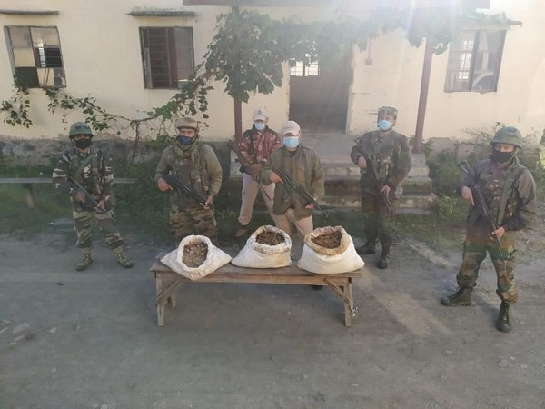 Nearly 72 kg of brown sugar worth Rs 287 crore was seized by the Assam Riffles and Manipur police on Wednesday. (Photo/ANI)