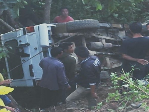 Assam Rifles personnel during the rescue operation on Friday. Photo/ANI