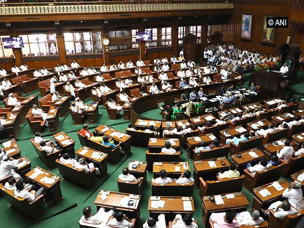 Visuals from Karnataka Assembly.
