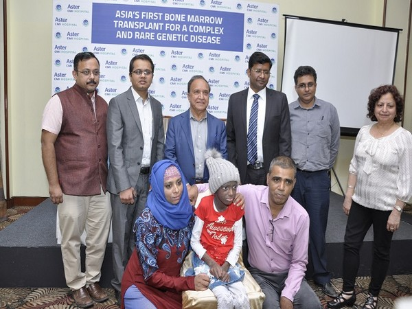 Ciara (name changed) with her parents and doctors of Aster CMI Hospital, Bengaluru