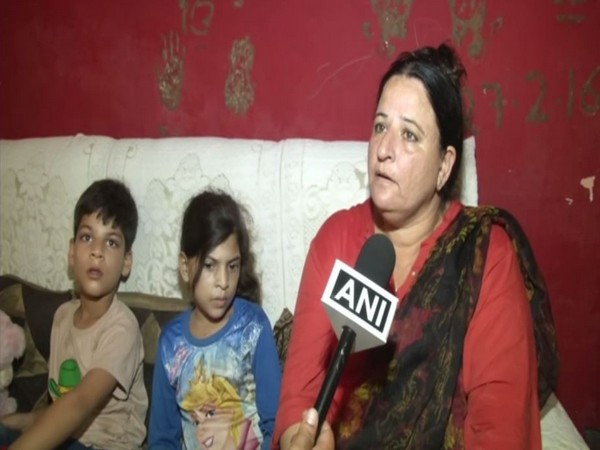 Mother-in-law of Baldev Kumar, Jyoti, speaking to ANI on Tuesday. Photo/ANI