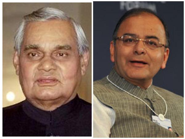 BJP leaders Atal Bihari Vajpayee and Arun Jaitley