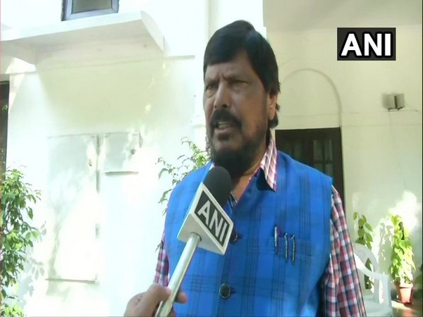 Republican Party of India (RPI) chief Ramdas Athawale speaking to ANI in New Delhi on Sunday. (Photo/ANI)
