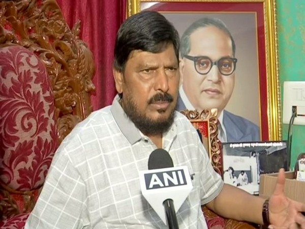 Republican Party of India chief Ramdas Athawale speaking to ANI in Mumbai on Friday. (Photo/ANI)