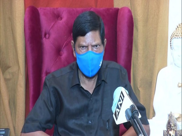 Union Minister Ramdas Athawale speaking to ANI in New Delhi on Saturday. Photo/ANI