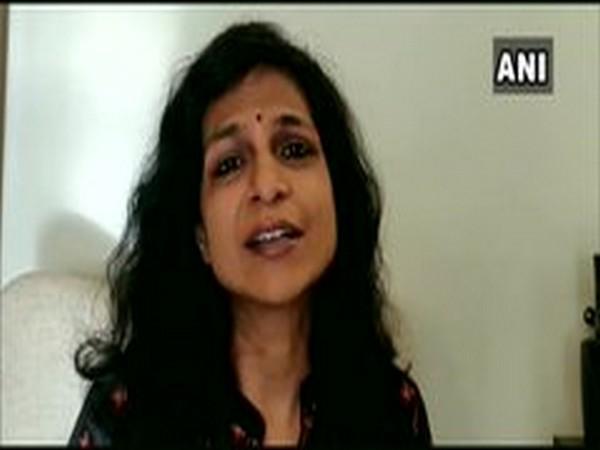 Aparna Athreya from Bangalore Storytelling Society speaking to ANI. [Photo/ANI]