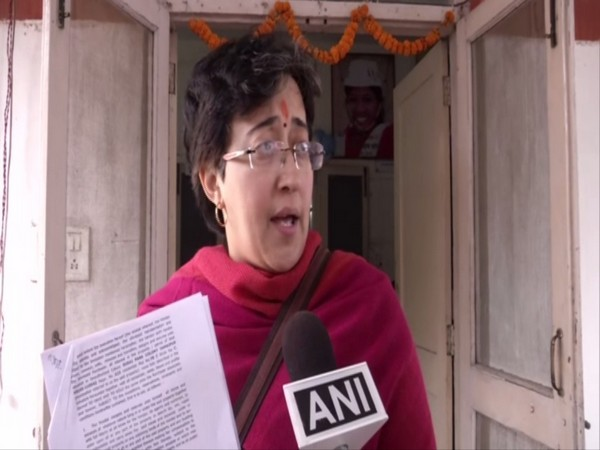 AAP leader Atishi Marlena talking to ANI in Delhi on Friday. Photo/ANI
