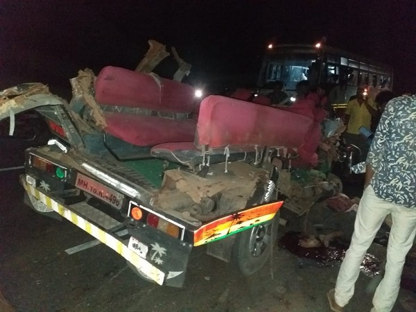 Three people were killed and seven injured after a vehicle carrying a wedding party collided head-on with a truck in Maharashtra's Aurangabad.