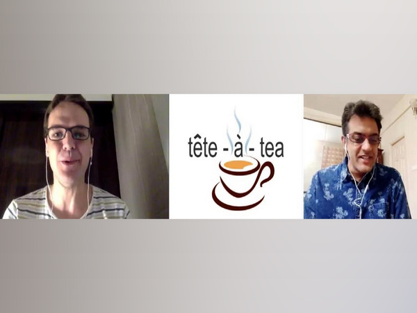 Author Hector Garcia and Dr Vikram Sampath at the Tete-a-tea session from Kolkata