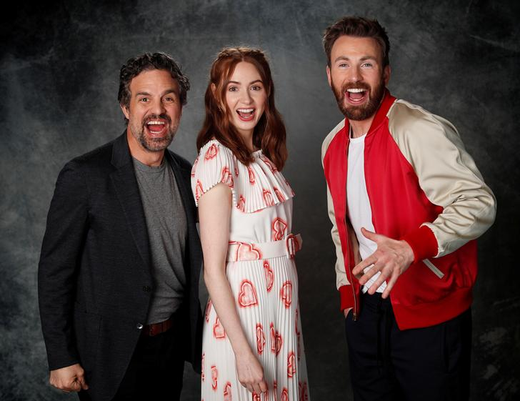 "Cast members Mark Ruffalo (L), Karen Gillan and Chris Evans pose for a portrait while promoting the film ""Avengers: Endgame"" in Los Angeles, California, U.S., April 6, 2019. REUTERS/"