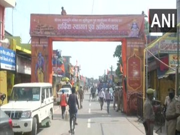 Visual from Ayodhya ahead of the much-awaited bhoomi pujan ceremony. (Photo/ANI)