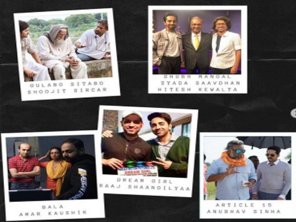 Pictures of Ayushmann Khurrana with all his directors (Image Source: Instagram)