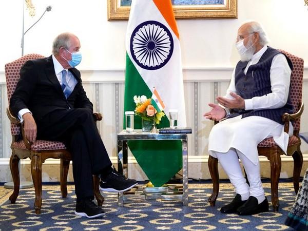 Prime Minister Narendra Modi on Thursday met Blackstone CEO Stephen Schwarzman