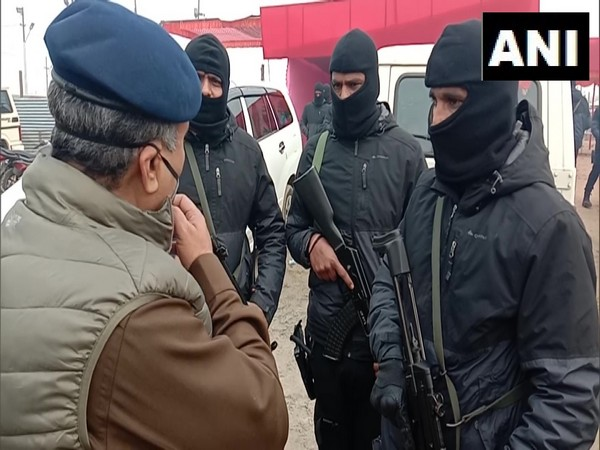Black Commandos at Magh Mela site in Prayagraj. (Photo/ANI)