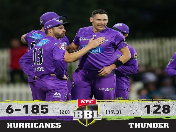 Hobart Hurricanes defeat Sydney Thunders (Image: BBL's Twitter)