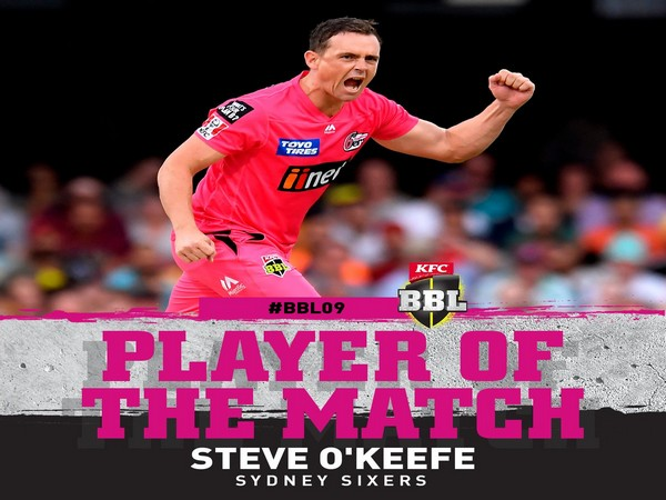 Sydney Sixer's Steve O' Keefe (Image: BBL's Twitter)