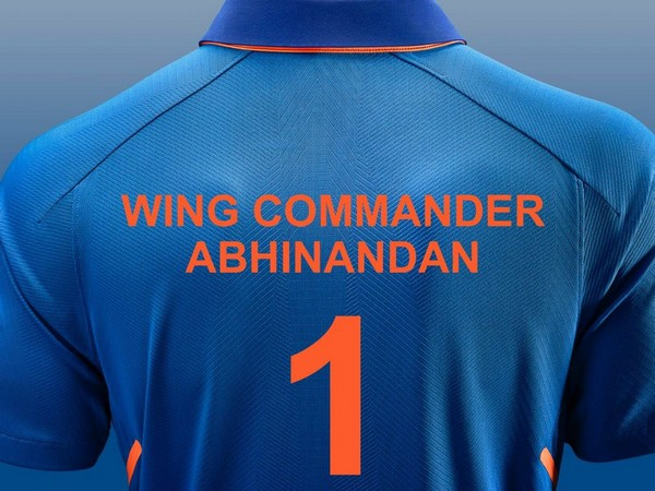 On its official Twitter handle, BCCI posted a photo having IAF pilot Abhinandan Varthaman's name engraved on Team India jersey. (Photo: Twitter @BCCI)