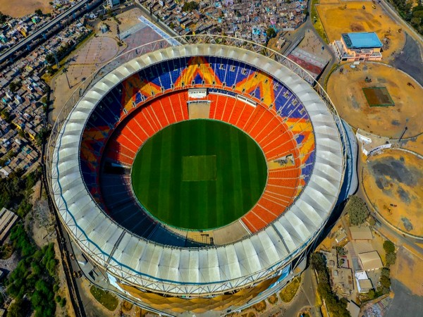 Aerial photograph of the revamped Motera Stadium in Ahmedabad, Gujarat. (Photo/BCCI Twitter)