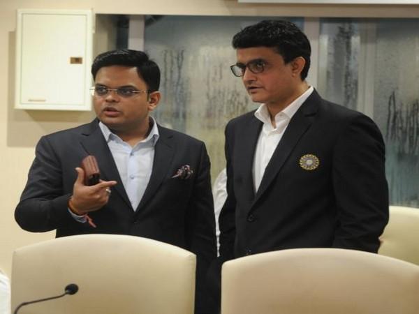BCCI Secretary Jay Shah with President Sourav Ganguly.