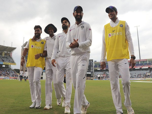 India are 488 runs ahead of South Africa in the first innings after declaring at 497/9. (Photo/BCCI's Twitter)