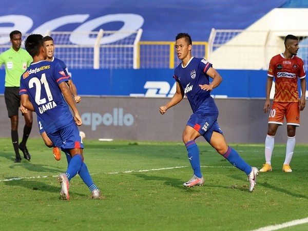 Suresh Wangjam pulled one back for BFC with a stunning goal (Image: ISL)