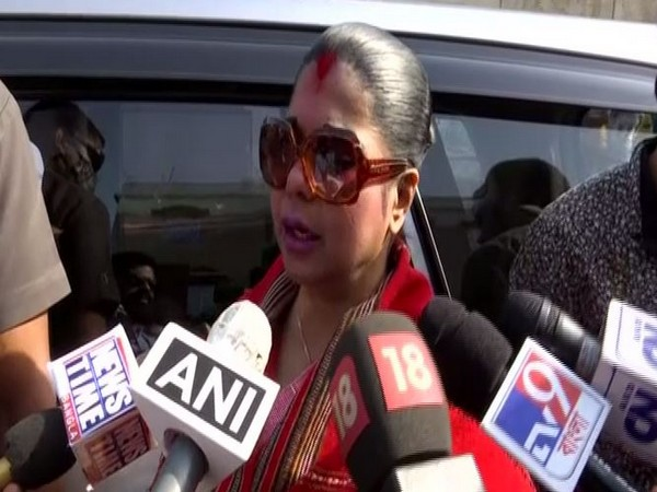 BJP candidate Bharati Ghosh speaking to media on Thursday. (Photo/ANI)