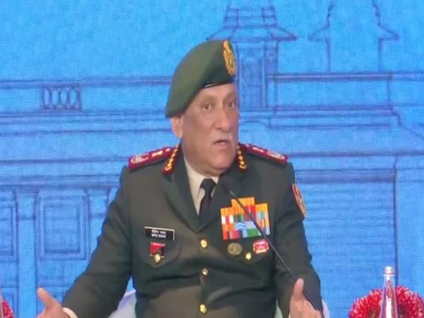 CDS General Bipin Rawat speaking at Raisina Dialogue 2020 in New Delhi on Thursday. Photo/ANI