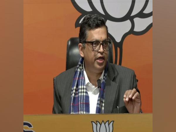 BJP spokesperson Gopal Krishna Agarwal during a press conference on Thursday. (Photo/ANI)