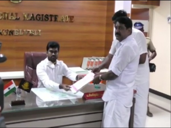 BJP Tamil Nadu vice president Nainar Nagendran on Friday filed his nomination from Tirunelveli Assembly constituency.