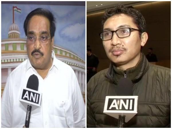 BJP MPs CR Patil (L) and Jamyang Tsering Namgyal (R)
