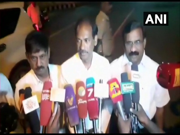 BJP leader V Saminathan speaking to reporters in Puducherry. (File photo)