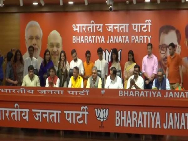 Tollywood artists joining BJP in New Delhi on July 18. Photo/ANI