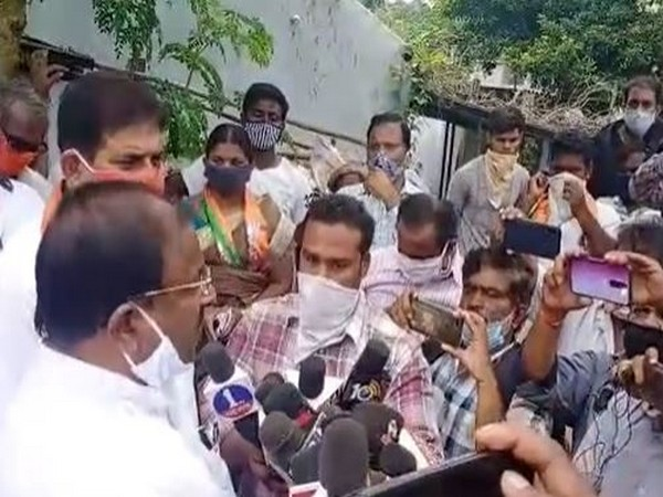 BJP Andhra Pradesh President Somu Veerraju talking to the reporters about the floods affected areas in the state.