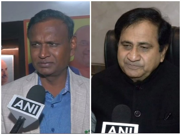 Udit Raj, left, BJP MP from North-West Delhi, and Congress leader Shakeel Ahmad, right, speaking to ANI in New Delhi on Saturday. Photo/ANI