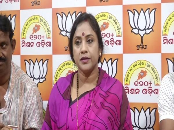 Odisha BJP General Secretary Lekhasri Samantsinghar in a press conference in Bhubaneswar on Wednesday. Photo/ANI