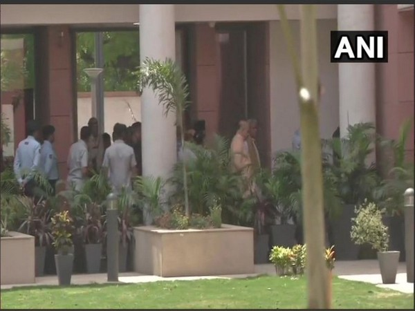 Union Home Minister and BJP President Amit Shah arrives at BJP headquarters